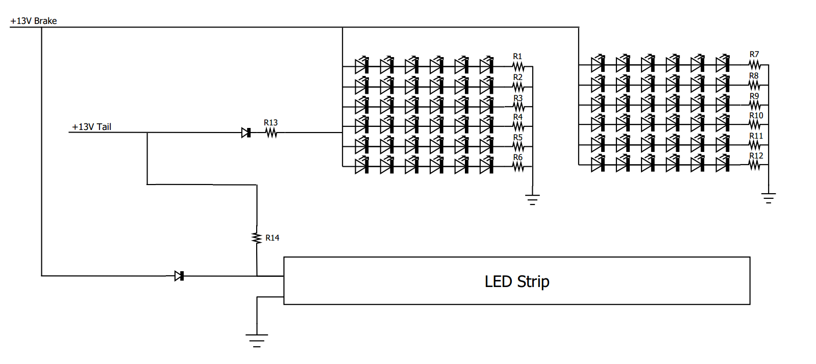 12v Led Stop Light Wiring Diagram Guide And Troubleshooting Of Library Rh 42 Skriptoase De Tail